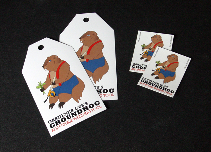 Groundhog Weeding Tool Tag and Sticker