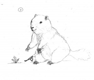 Gus Groundhog sketch #3