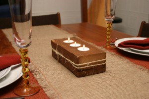 Reclaimed Wood Timber Candleholder