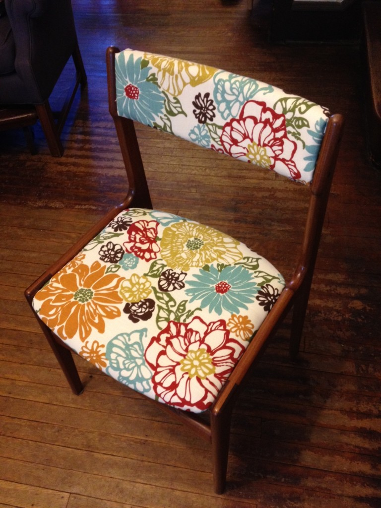Dining room chair - after reupholstering