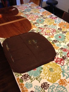 Cutting new upholstery fabric