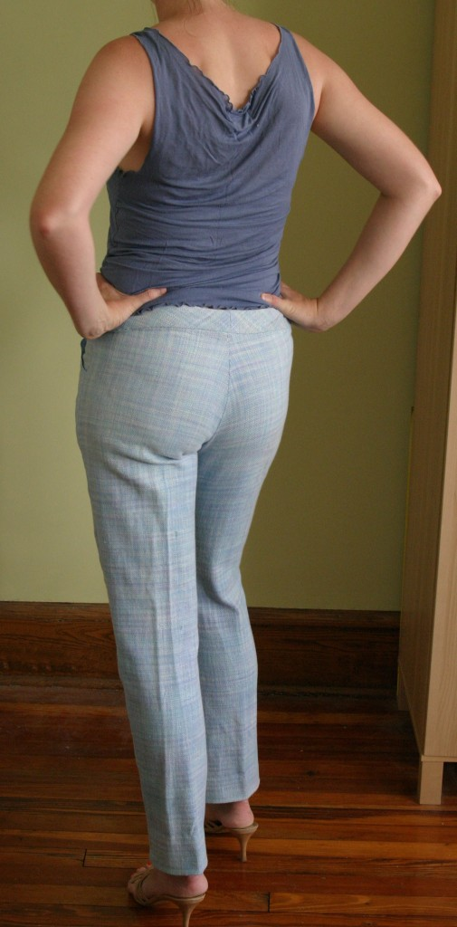 Pants alteration - back view