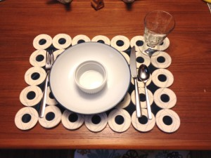 Placemat with table setting
