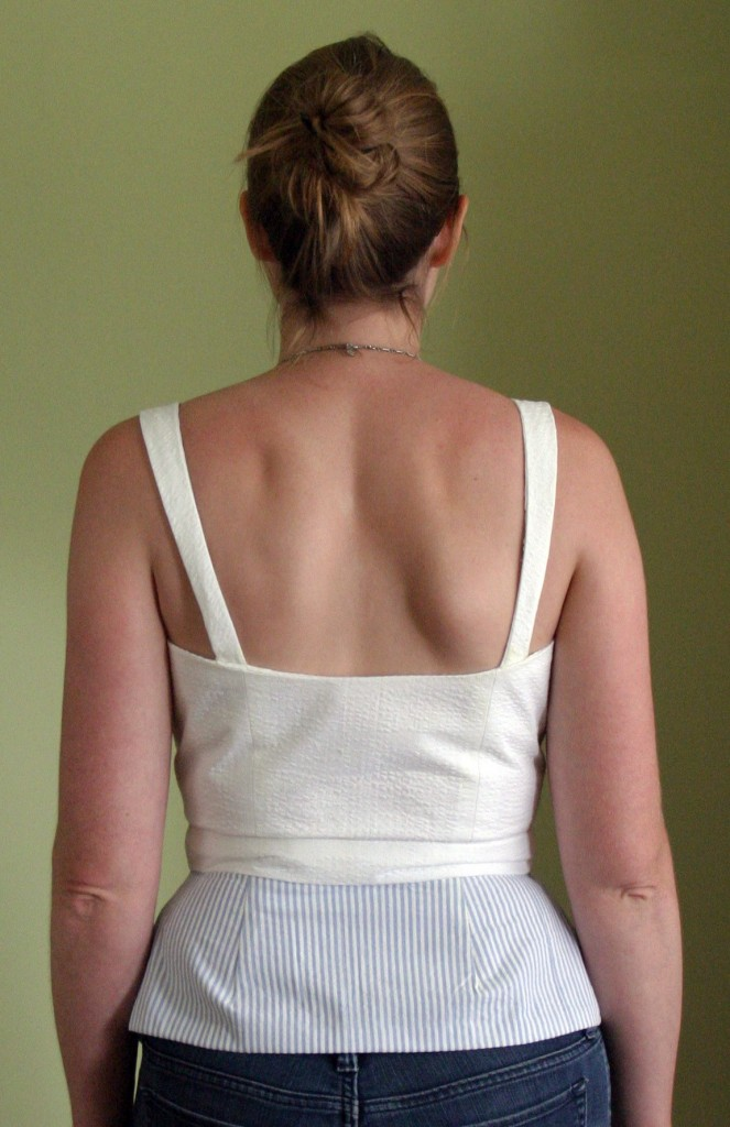 Sleeveless shirt - back