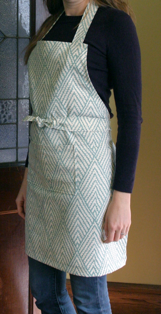 Baker's apron - side view