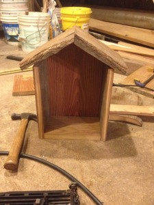 Bee box frame from front
