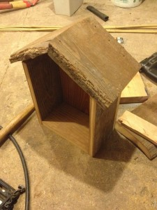 Bee box frame from above
