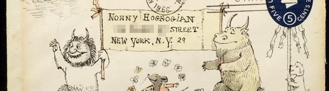Envelope drawn by Maurice Sendak