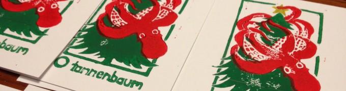 Christmas Kraken Holiday Cards